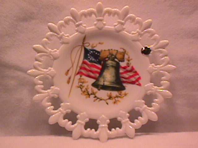 Westmoreland Milk Glass=Set of 2= (Patriotic Plates)