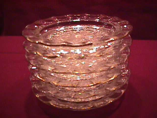 Set of 6=Glass Coasters W/Gold Trim