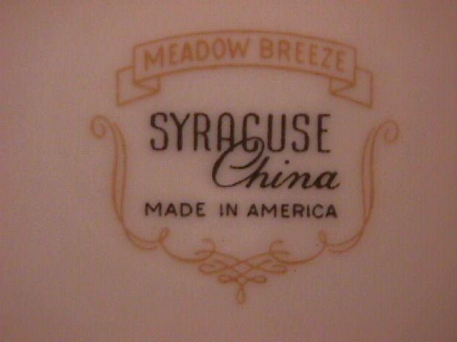 SYRACUSE CHINA