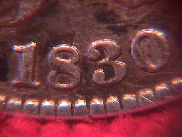 CAPPED BUST SILVER HALF DOLLAR DATED 1830 GRADED FINE-15