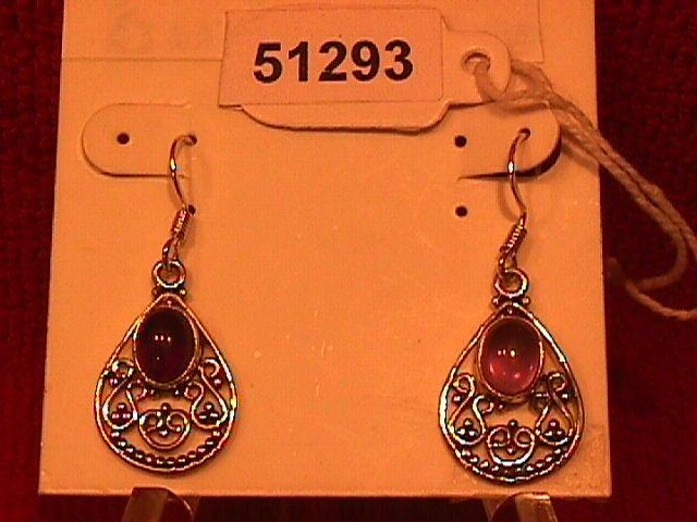 Amethyst (Bali) Sterling Earrings