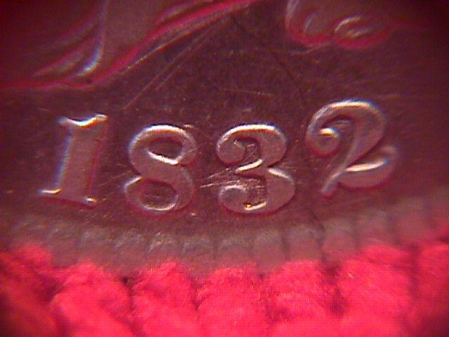 CAPPED BUST HALF DOLLAR DATED  1832 GRADED  FINE-18