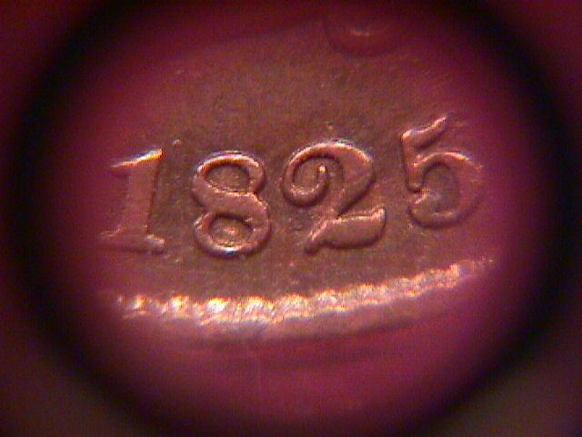 HALF CENT CLASSIC HEAD COPPER COIN -1825  FINE-15   Condition