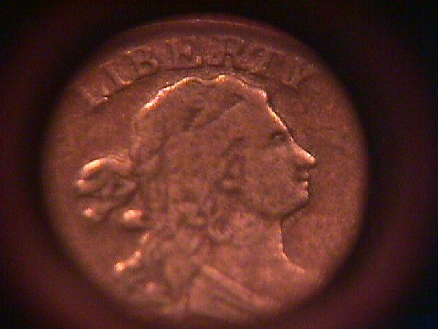 Draped Bust Half Cent Coin 1804  Very Fine # 35  Condition