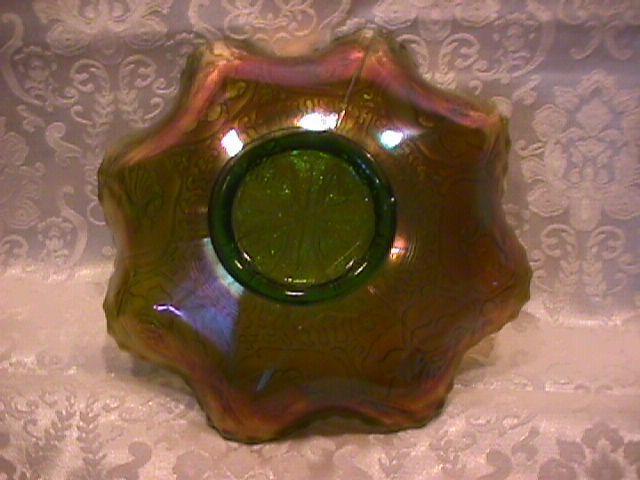 CARNIVAL GLASS FENTON GREEN