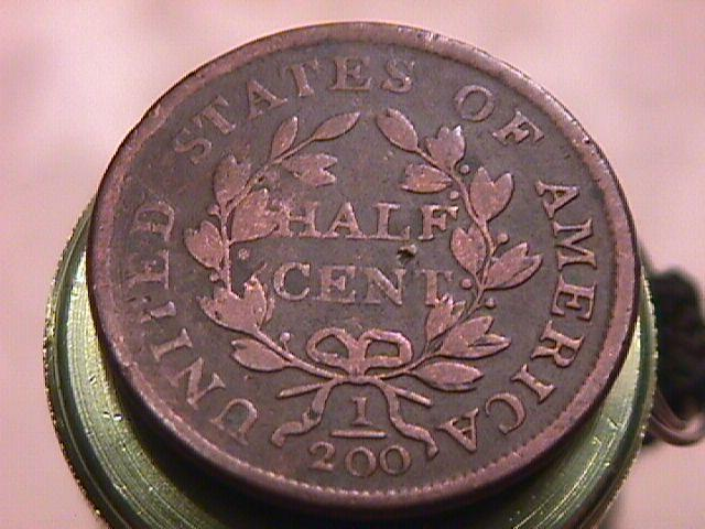 Half Cent COPPER COIN DRAPED BUST  DATED 1804  Very Fine-25 Condition