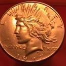Peace Type Silver Dollar 1927-S EXTREMELY FINE #-45 Condition