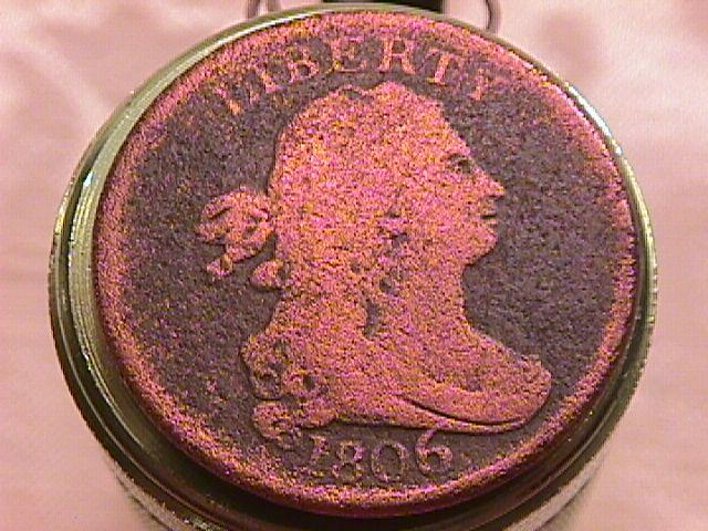 Draped Bust Half Cent Coin 1806 GOOD-5  Details