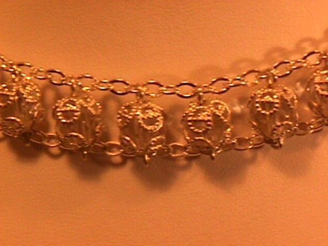 Lovely Sterling & Crystal W/ a Cross Choker Necklace