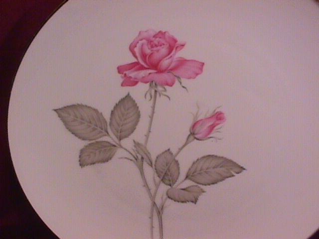 Zylstra Fine China (Zylstra Rose) 2-Cake Plates