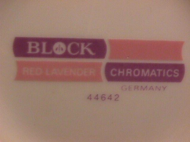 Block Fine china (Chromatics) Red Lavender Dinner Plate