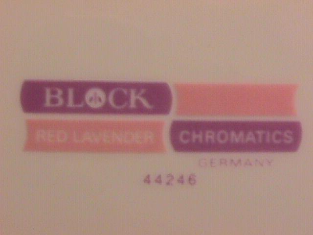 Block Fine china (Chromatics) Red Lavender Salad Plate