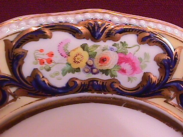Victorian, French, Registered Lunch/Display Plate