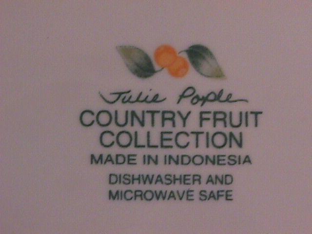 Avon Fine China (Country Fruit) Platter