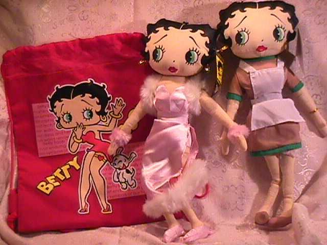 Betty Boop Rag Dolls & Carrying Case