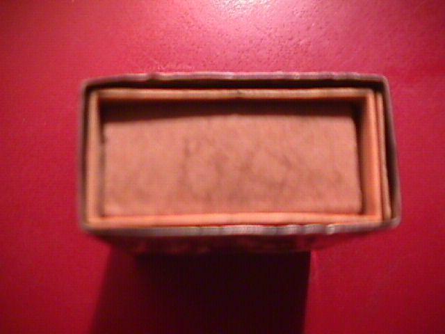 VICTORIAN MATCH BOX SAFE WHITE METAL