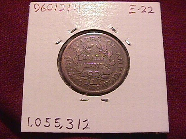 1804 FINE-15 DRAPED BUST HALF CENT