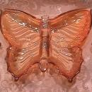 JEANETTE BUTTERFLY PARTY SET MARIGOLD CARNIVAL GLASS