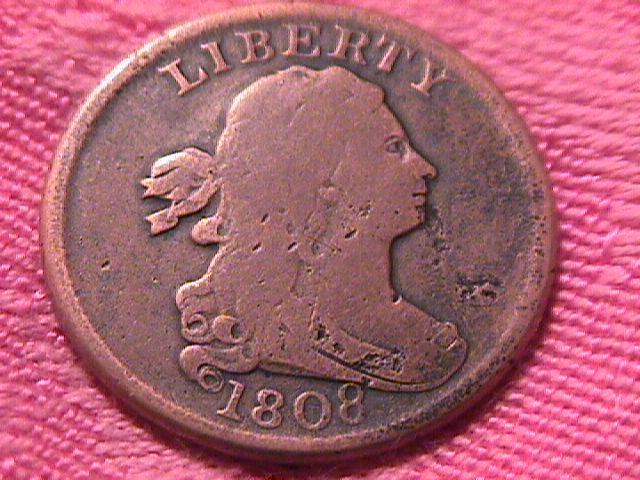 DRAPED BUST 1808  GRADED VERY FINE-20 HALF CENT