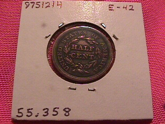BRAIDED HAIR 1854 GRADED ALMOST UNCIRCULATED-50