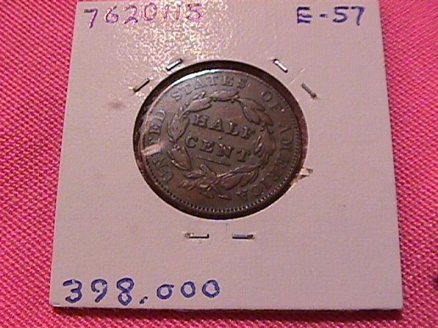 CLASSIC HEAD 1835 VERY FINE-25 GRADED HALF CENT