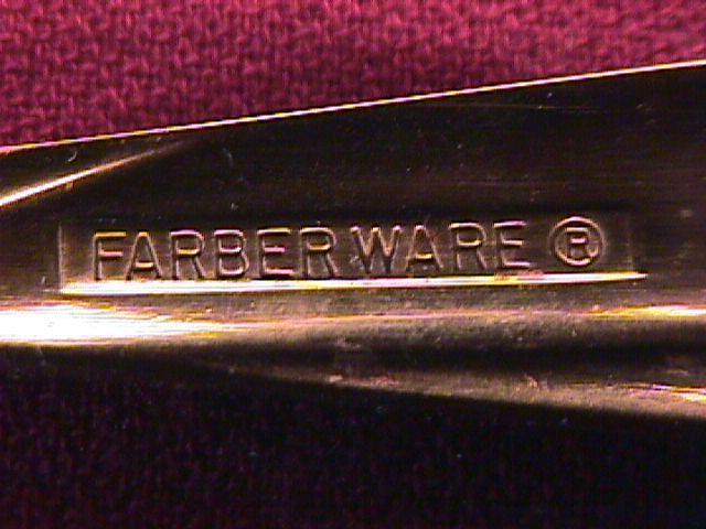 Farberware Stainless (Nicole) W/Gold Electroplate-Pierced Casserole Spoon