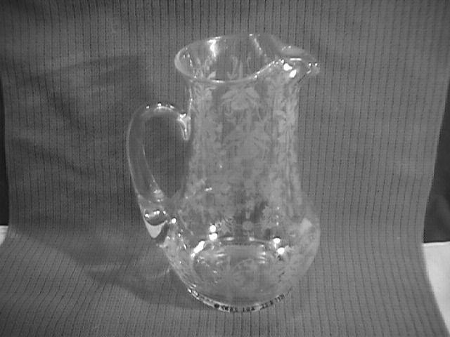 Heisey, Orchid, Ice Lip, Tankard Pitcher/Jug