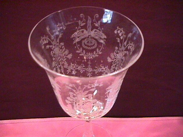 Heisey, Orchid, Crystal Goblet, #5025-16