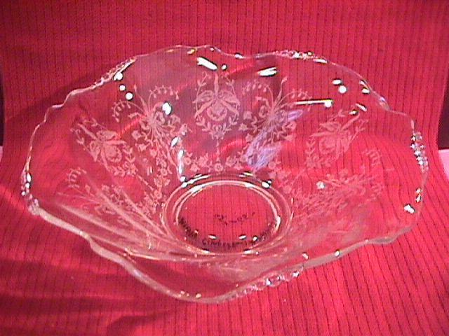 Heisey, Orchid, Crystal Centerpiece Bowl