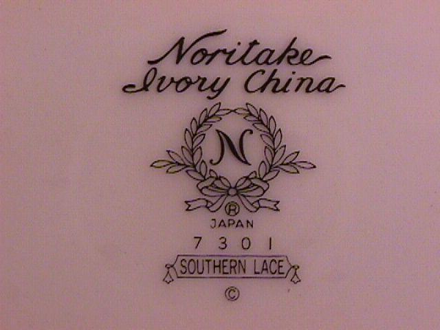 Noritake Ivory China (Southern Lace) 2-Cups & Saucers