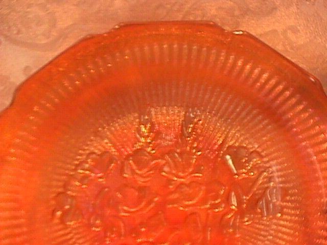 Jeanette Carnival Glass, Iris & Herringbone Marigold, Soup Bowl