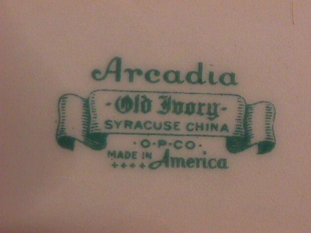 Syracuse China, Old Ivory (Arcadia) Saucer Only