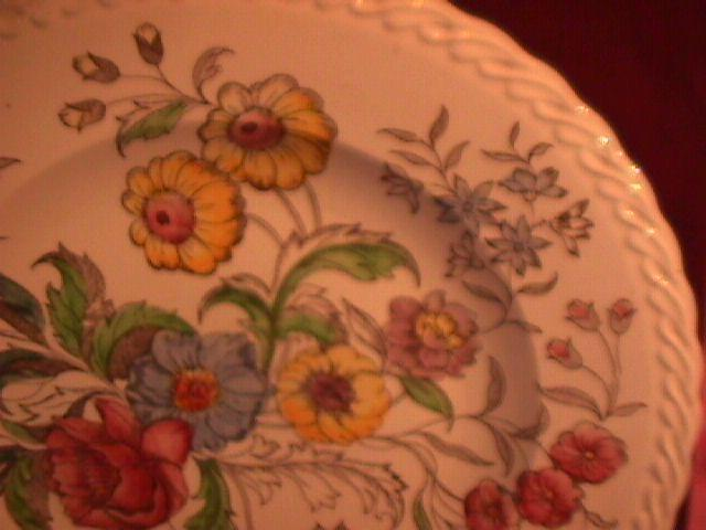 Vernon Kilns (May Flowers) Chop/Charger Plate