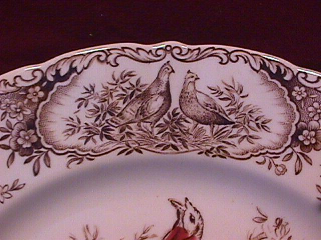Johnson Brothers China (Wild Turkeys, Native American) Dinner Plate