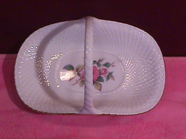 Spode, Bone China, (Billingsley Rose Spray) Basket