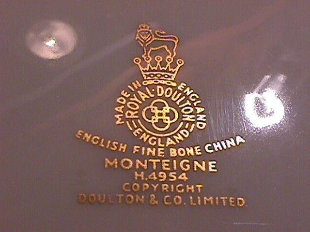 Royal Doulton Bone China (Monteigne) # H-4954 Cup & Saucer