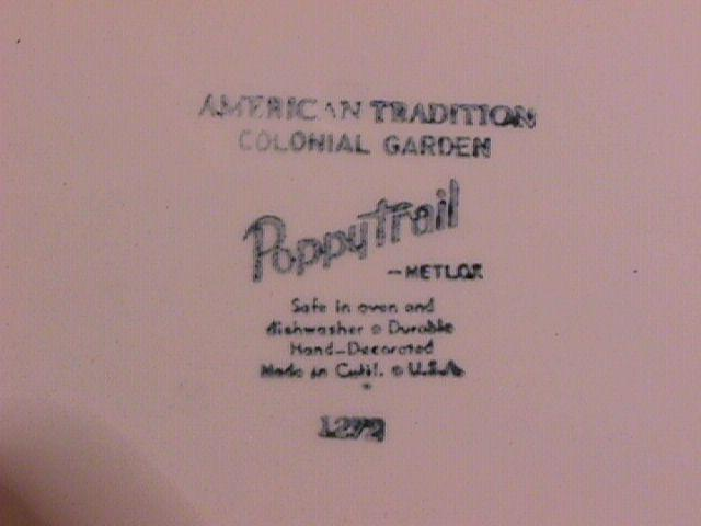 Metlox-Poppytrail