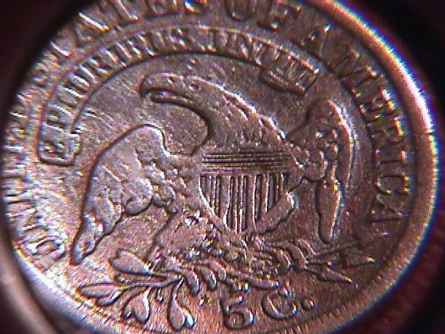 Silver Coin Classic Head Half Dime  1836 Graded Very Fine-25