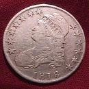 Capped Bust Half Dollar  1818 Very Fine 25 Condition