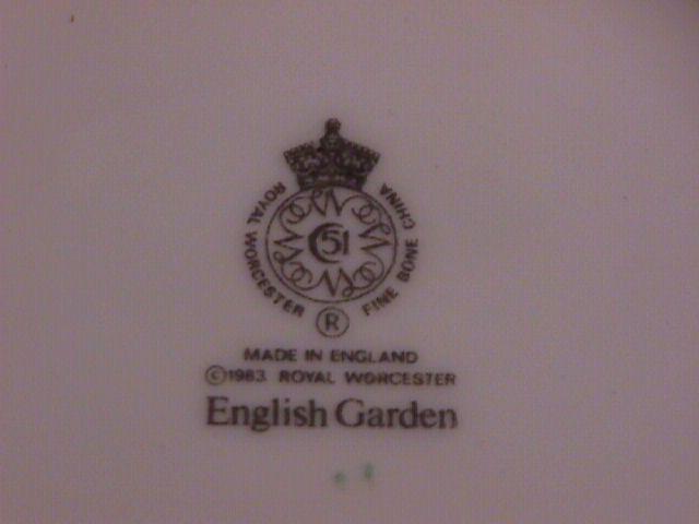 Royal Worcester- Bone China (English Garden) Creamer