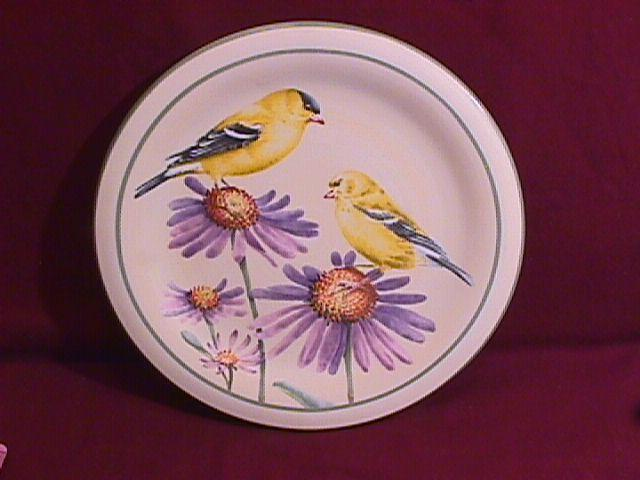 Lenox. Summer Greetings, Salad Plate W/Goldfinch