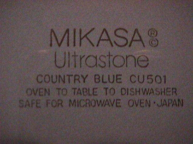 Mikasa, Ultrastone (Country Blue) Cup & Saucer