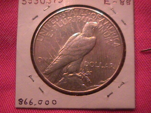 PEACE TYPE SILVER DOLLAR 1927-S  VERY FINE-30
