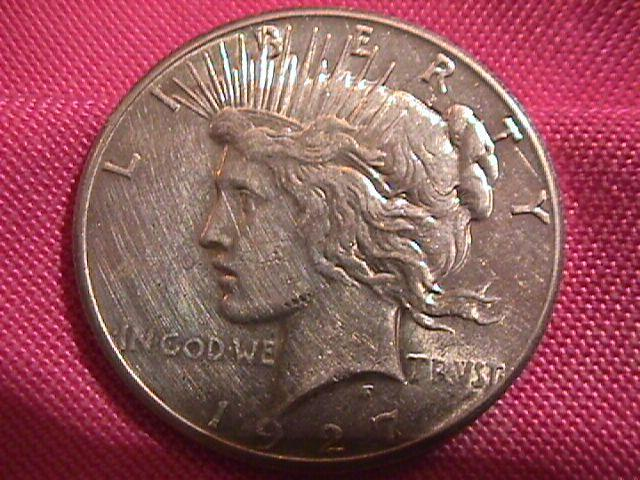PEACE TYPE SILVER DOLLAR 1927-P MINT STATE-61