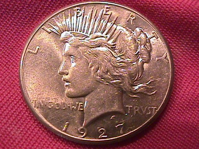 PEACE TYPE SILVER DOLLAR 1927-P MINT STATE-65