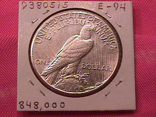 PEACE TYPE SILVER DOLLAR 1927-P MINT STATE-65-66