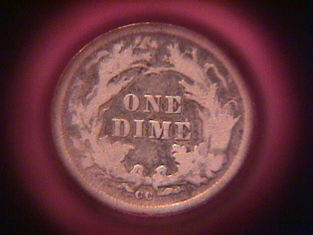 LIBERTY SEATED DIME 1877 CC GRADED VERY FINE -25