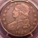 CAPPED BUST SILVER HALF DOLLAR DATED -1832 SMALL LETTERS VERY FINE 30-EDGE DING   Condition