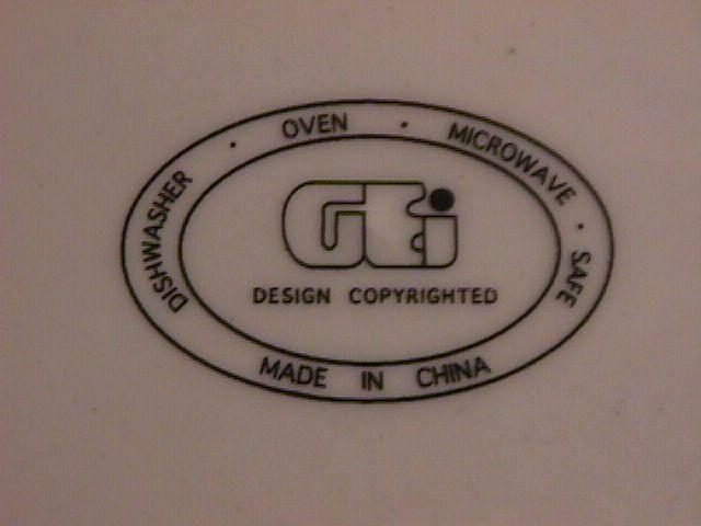 GEI Design China, (GE#17) Dinner Plate