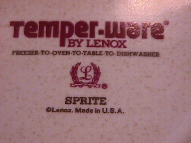 Lenox -Temper Ware (Sprite) Creamer
